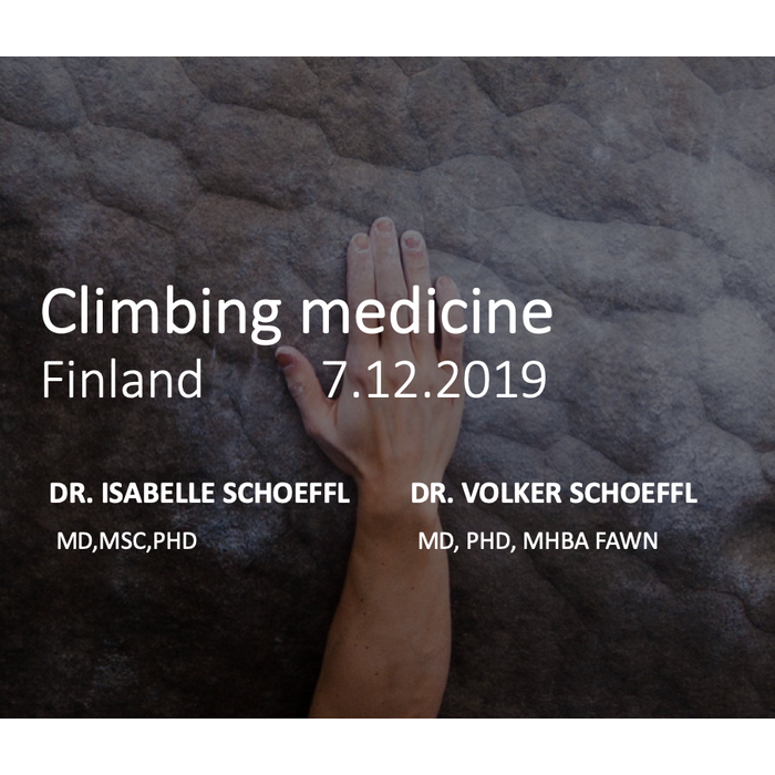 Climbing Medicine Finland - For professionals - SOLD OUT!!